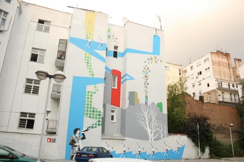Mural u ulici Djure Jaksica