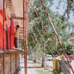 KURS mural solidarnosti Bitola, oslikavanje